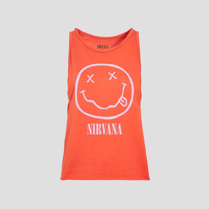 Débardeur Nirvana orange femme