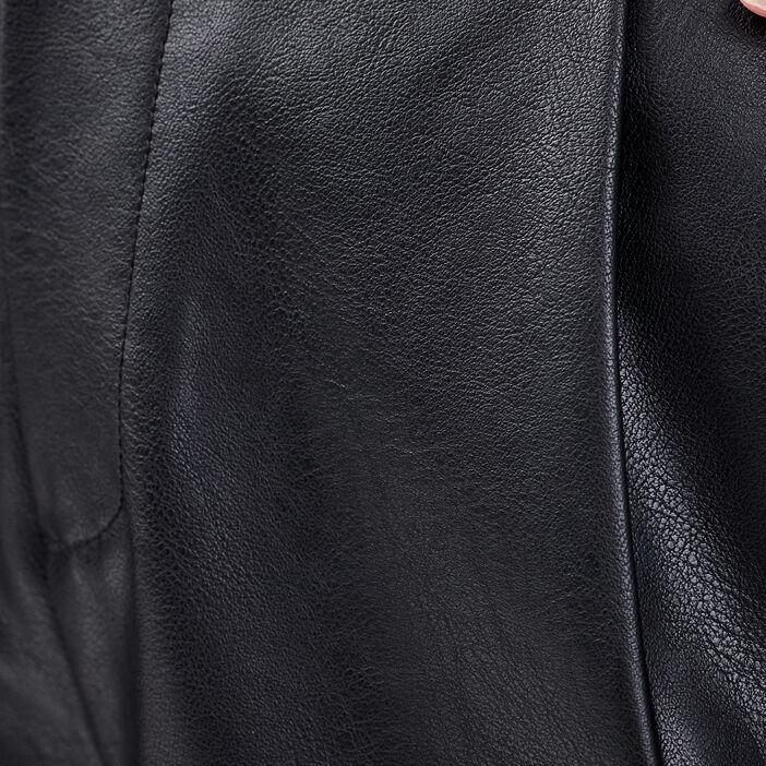 Bermuda large taille haute noir femme