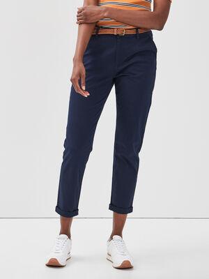 Pantalon chino 78eme bleu marine femme