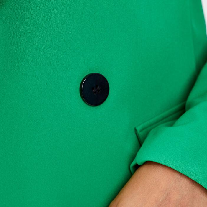 Veste droite double boutonnage vert femme