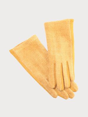 Gants jaune moutarde femme