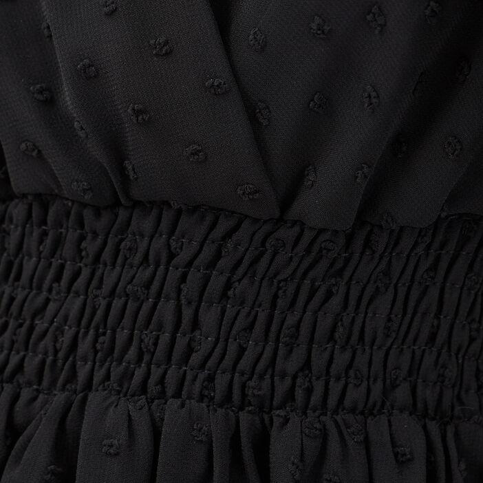 Robe évasée sans manches noir femme