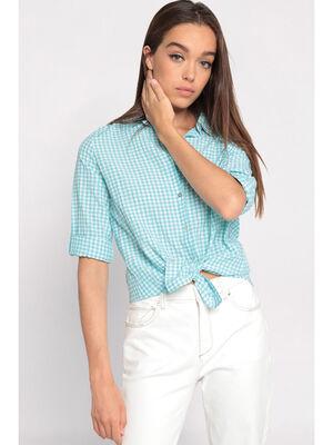 Chemise manche longues vert pastel femme