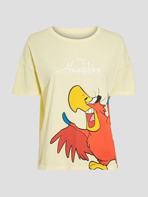 T shirt Aladdin jaune pastel femme