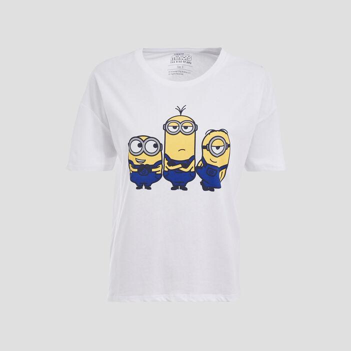 T-shirt Les Minions blanc femme