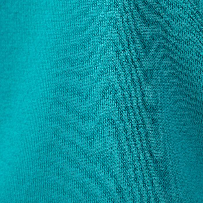 Pull col rond dos ouvert vert émeraude femme