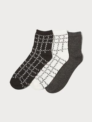 Lot 3 paires de chaussettes ecru femme