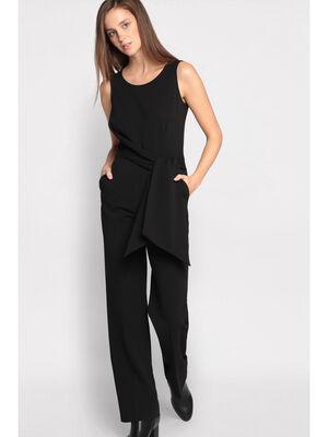 Combinaison pantalon noeud noir femme