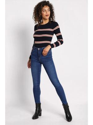 Jeans skinny 5 poches denim baby bleu femme