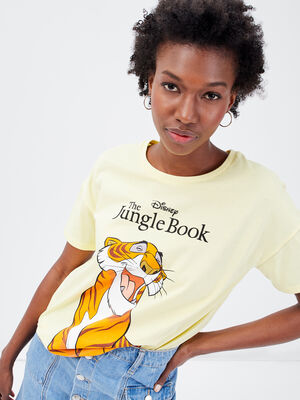 T shirt Le Livre de la jungle jaune pastel femme