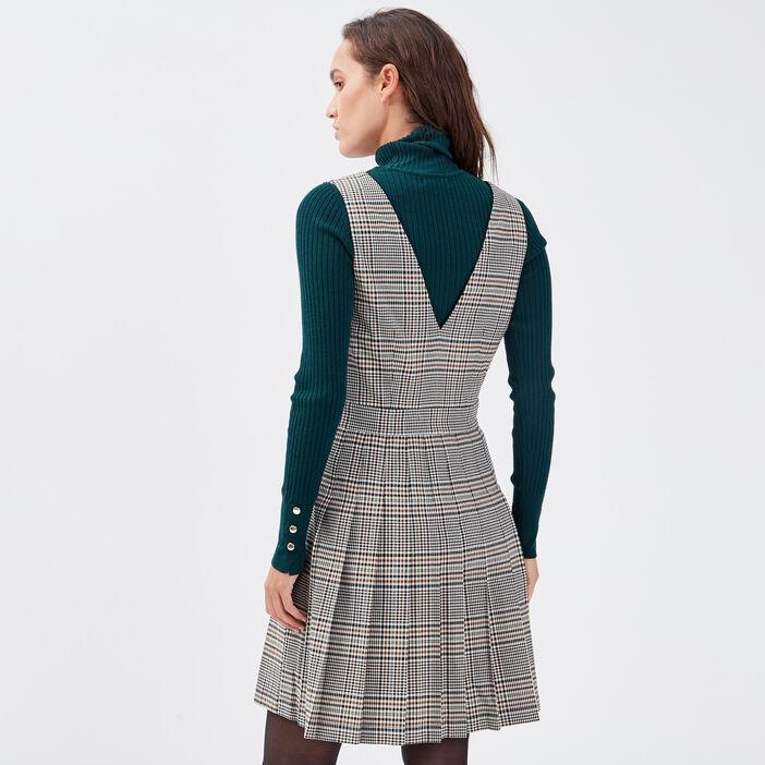 Robe trapèze sans manches blanc femme