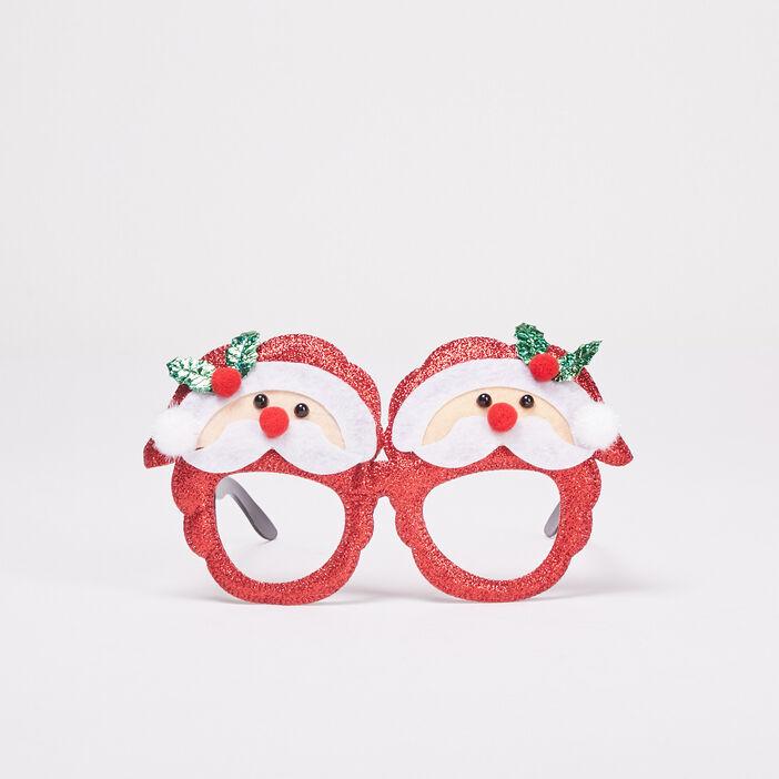 Lunettes Noël rouge fluo femme