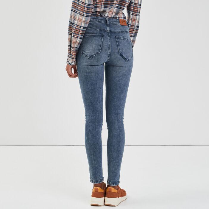 Jeans skinny 5 poches denim brut femme