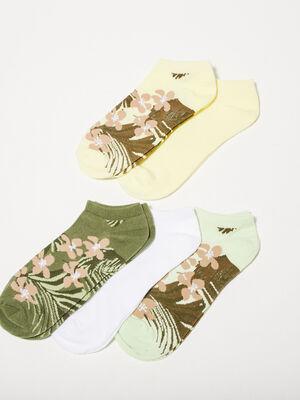 Lot 5 paires de chaussettes vert pastel femme