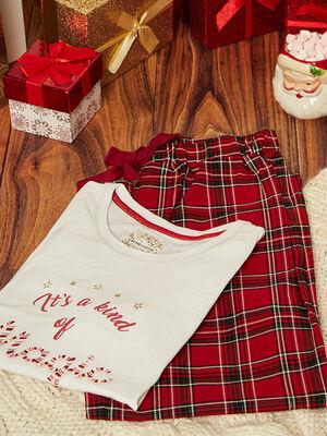 Ensemble pyjama rouge femme