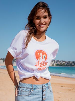T shirt Lulu La Nantaise blanc femme
