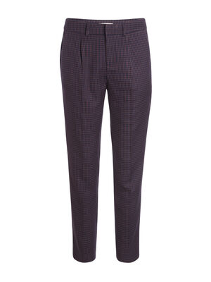 Pantalon city slim avec pinces bleu marine femme