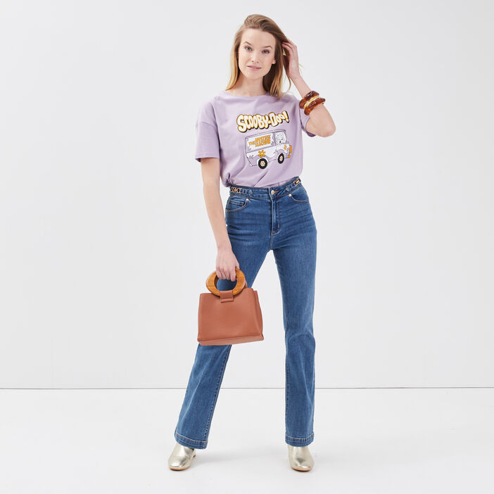 T-shirt Scooby-Doo mauve femme