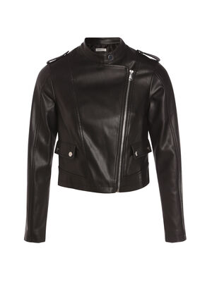 Veste esprit biker zippee noir femme