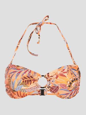 Bandeau de bain detail anneau orange femme
