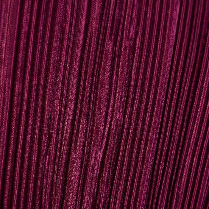 Blouse manches longues plissée prune femme