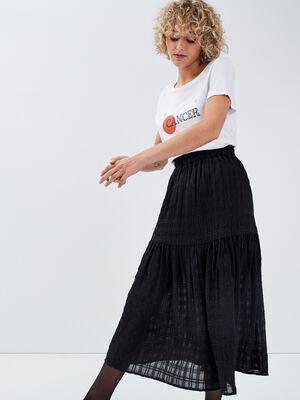 Jupe longue evasee noir femme