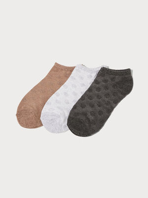 Lot 3 paires de chaussettes gris fonce femme