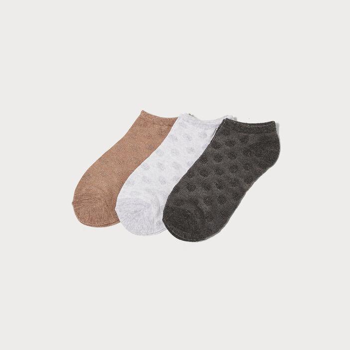 Lot 3 paires de chaussettes gris foncé femme