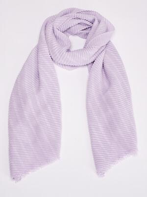 Foulard plisse violet clair femme
