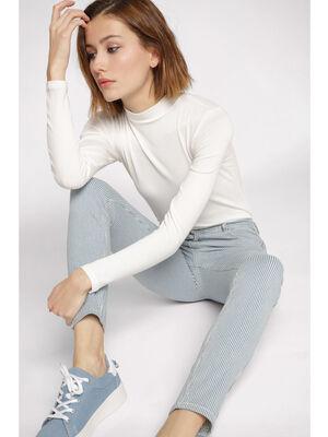Jeans skinny 5 poches blanc femme