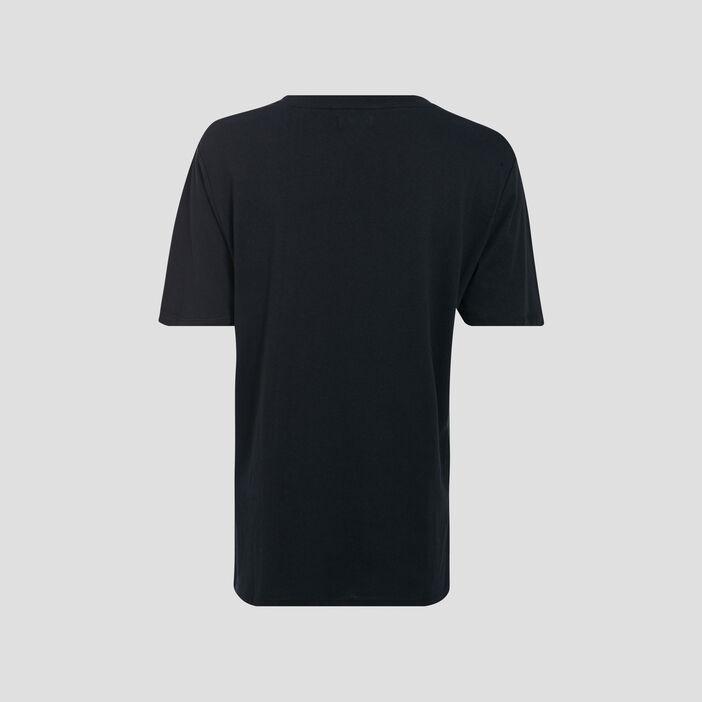 T-shirt large à message vert kaki femme