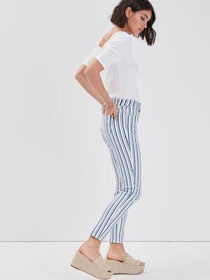 Jeans slim denim blanc femme
