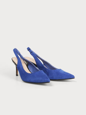 Escarpins talons aiguilles bleu electrique femme