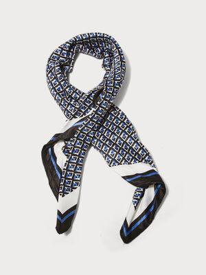 Foulard carre bleu clair femme