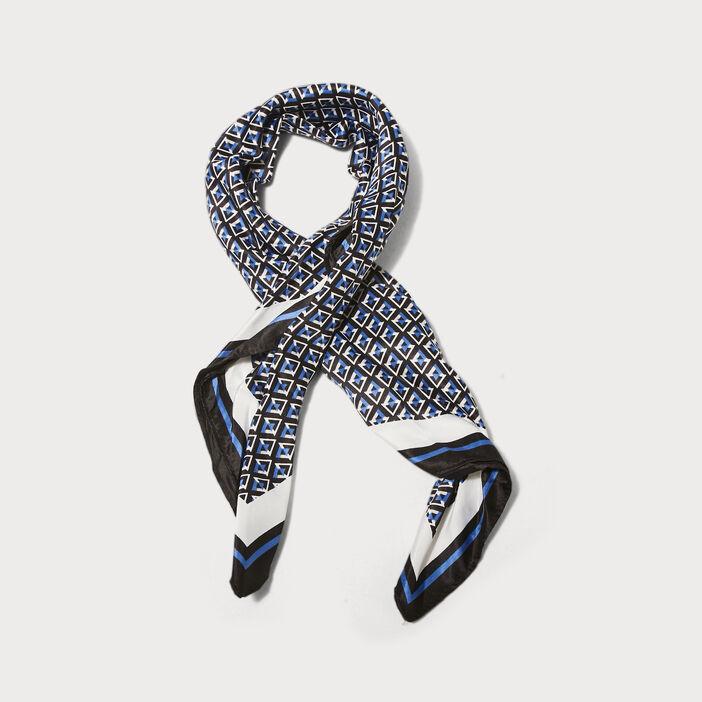Foulard carré bleu clair femme