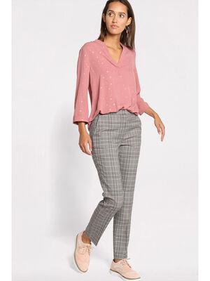 Pantalon droit gris femme