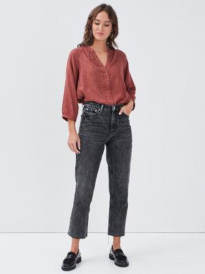 Jeans regular 78eme denim gris femme