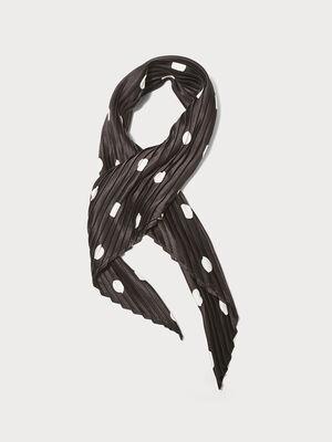 Foulard carre plisse noir femme