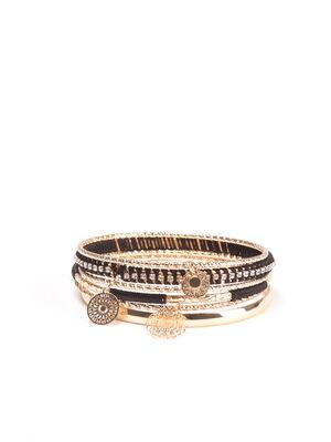 Lot 6 bracelets noir femme