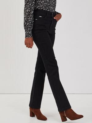 Jeans bootcut denim noir femme
