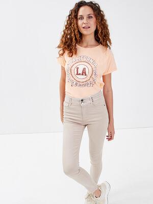 Jeans skinny beige femme