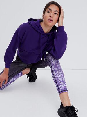 Sweat a capuche violet fonce femme