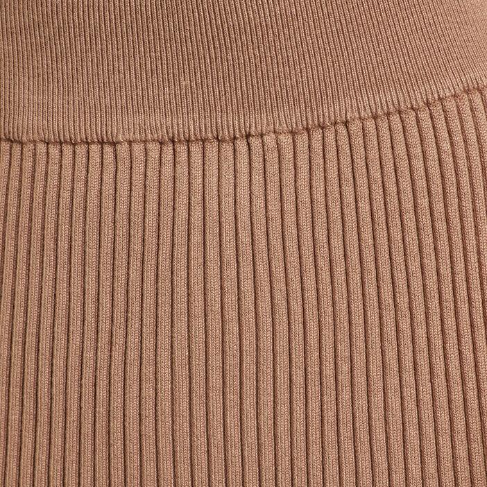 Jupe tricot midi ajustée beige femme