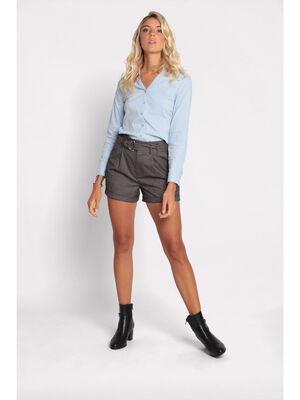 Short ample a ceinture noir femme