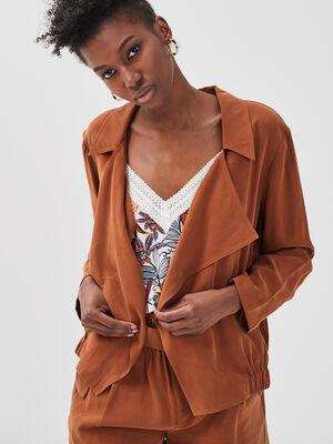 Veste fluide marron femme