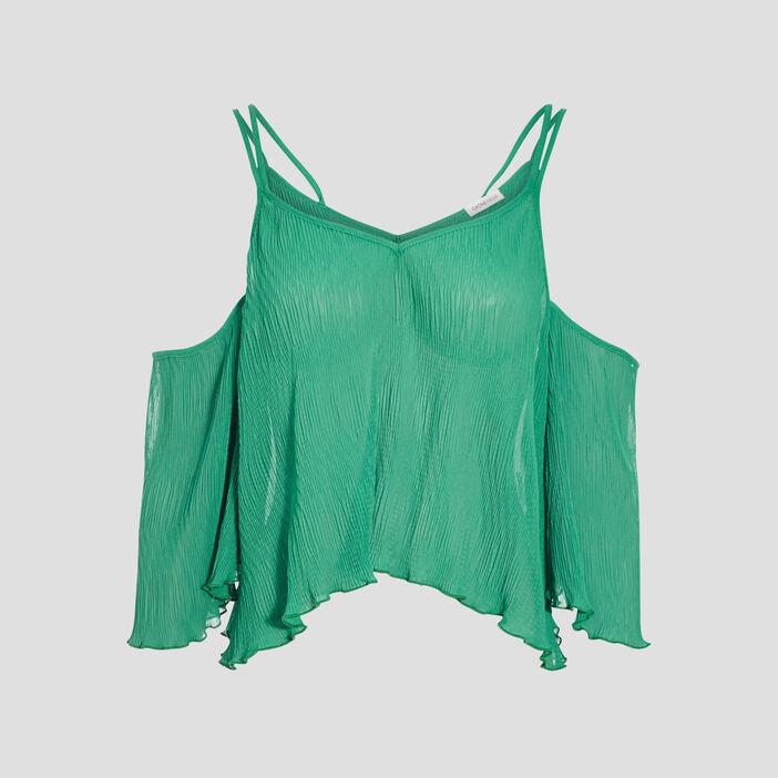 Blouse manches 3/4 vert menthe femme