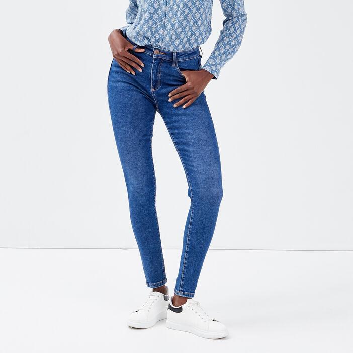 Jeans skinny push-up denim baby bleu femme