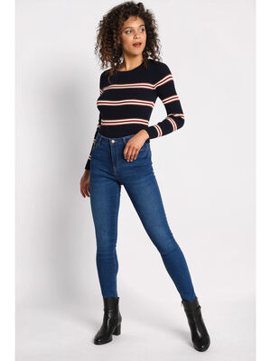 Jeans skinny denim baby blue femme