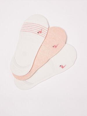 Lot 3 paires chaussettes rose poudree femme