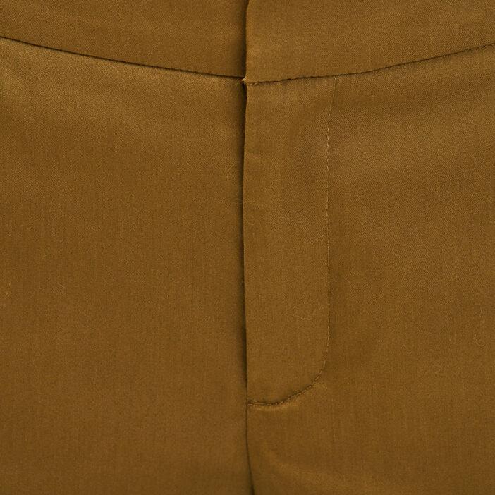 Pantalon cigarette vert olive femme